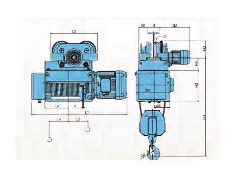 Таль электрическая канатная ELMOT HVAT, г/п 3 т, в/п 12 м