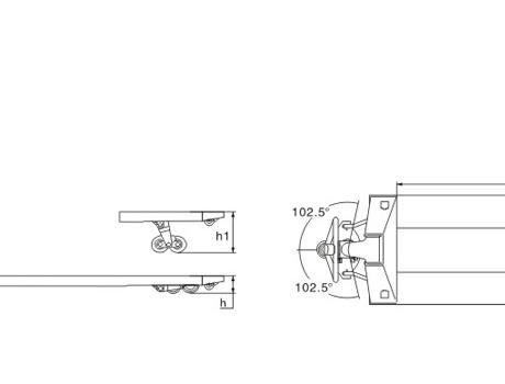 Гидравлическая тележка (рохля ручная) DB (KX), г/п 2т, длина вил 1150 мм