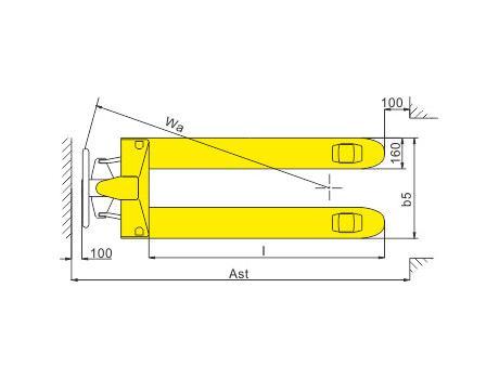 Гидравлическая тележка (рохля ручная) BFB, г/п 2,5т