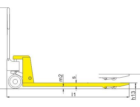 Гидравлическая тележка (рохля ручная) BFL10, г/п 1т