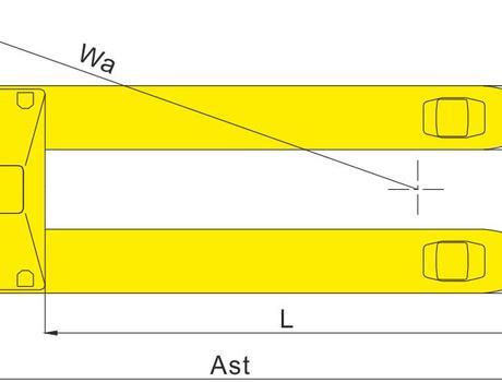 Гидравлическая тележка BFW, г/п 1,5т