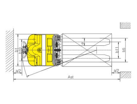 Тележка самоходная CBD20S, г/п 2000 кг, в/п 2500 мм