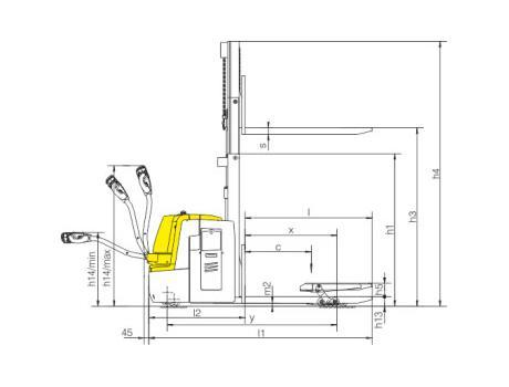 тележка-штабелер CBD20S, г/п 2000 кг, в/п 2500 мм