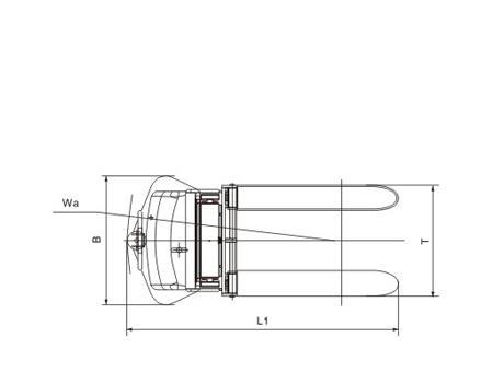 Полуэлектрический штабелер CDD10B-III (KX), г/п 1т, в/п 3м (регулируемые вилы)