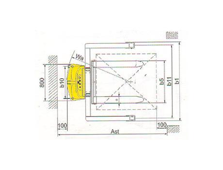 Полуэлектрический штабелер CTD10B-III, г/п 1т, в/п 3м (регулируемые вилы)