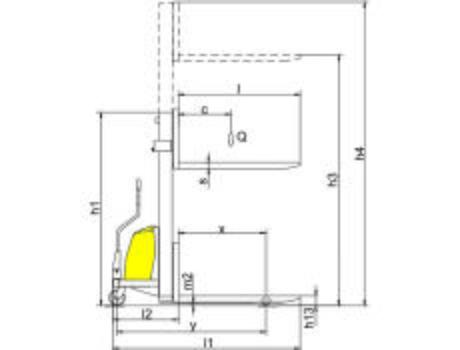Полуэлектрический штабелер CDD10B-III, г/п 1т, в/п 3м (фиксированные вилы)