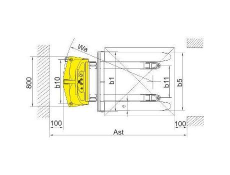 Полуэлектрический штабелер CDD15B-III, г/п 1,5т, в/п 3,5м (регулируемыее вилы)
