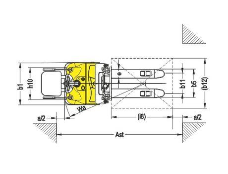 Самоходный электроштабелер модели CDDK15-I, г/п 1500 кг, в/п 5600 мм
