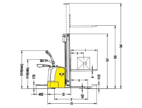 Самоходный электроштабелер CDDK12-III