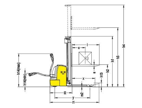 Самоходный электроштабелер CDDR15-III, г/п 1500 кг, в/п 4500 мм