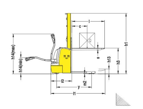 Электрический одностоечный штабелер CDDRD10 г/п 1000 кг