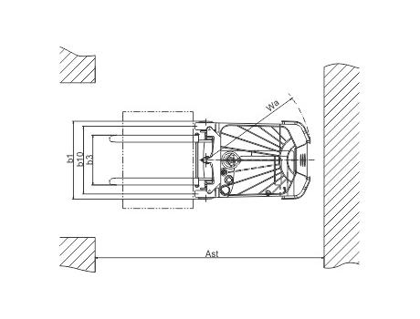 Самоходный электроштабелер CPD10BC г/п 1000 кг, в/п 5000 мм