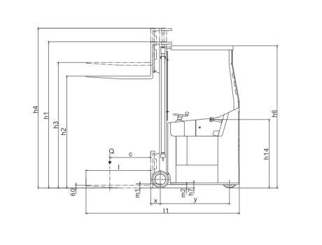 Самоходный электроштабелер CPD10BZ г/п 1000 кг, в/п 5000 мм