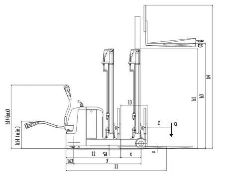 Самоходный электроштабелер CQD12W, г/п 1250 кг, в/п 5500 мм