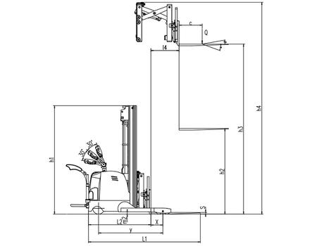 Cамоходный электроштабелер CQDH15A-I, г/п 1500 кг, в/п 5500 мм