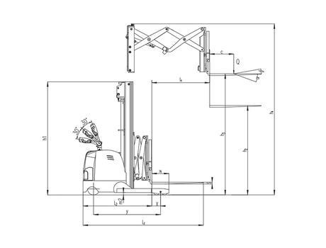 CQDH20A-II с двойными ножницами, г/п 1000 кг, в/п 5,5 м