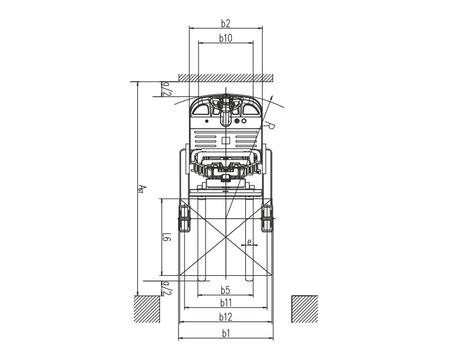 CQDH15A-II с двойными ножницами, г/п 1000 кг, в/п 5,5 м