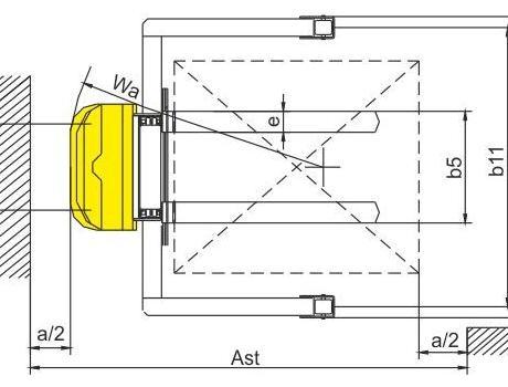 Полуэлектрический штабелер CTD15B, г/п 1,5т, в/п 3м (регулируемые вилы)