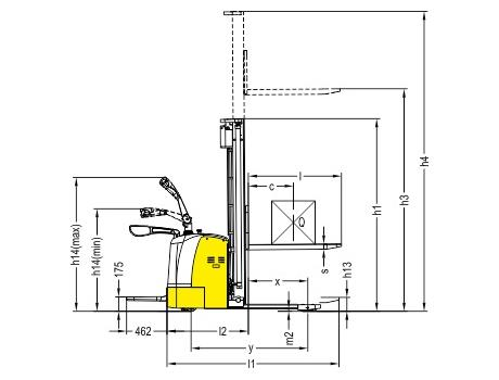 Самоходный электроштабелер CTDK15-III, г/п 1500 кг