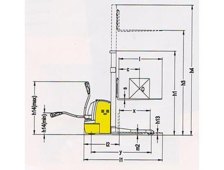 Cамоходный электроштабелер CTDR15-III, г/п 1500 кг, в/п 3300 мм