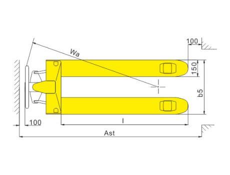 Гидравлическая тележка (рохля ручная) BFT, г/п 2,5т