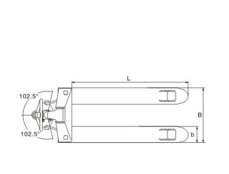 Гидравлическая тележка (рохля ручная) DF-III (KX), г/п 3т