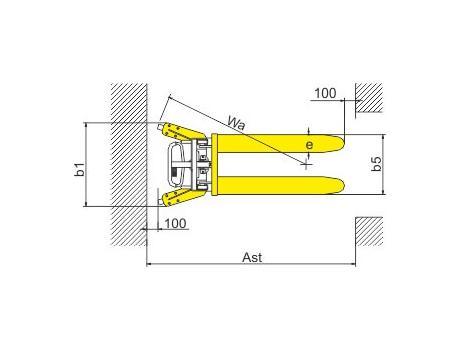 Ручной штабелер SDJ1000, г/п 1000 кг, в/п 1200 мм