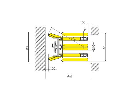 Ручной штабелер серии SDJA1500 г/п 1500 кг, в/п 1600 мм