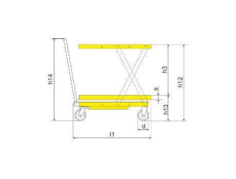 Подъёмный стол SPS800