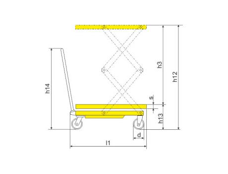 Подъёмный стол SPF680