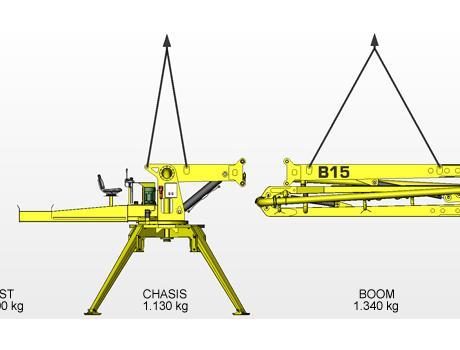 Бетонораздаточная стрела Atabey B 15 - габариты
