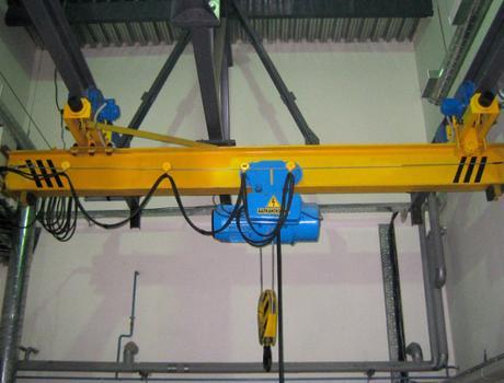 Кран мостовой электрический подвесной однобалочный г/п 3,2т пролет 3-4,2м