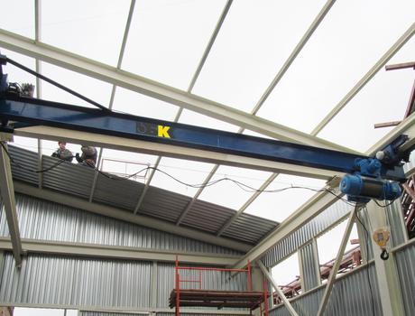 Кран-балка электрическая подвесная г/п 3,2 тонны пролет 15 метров