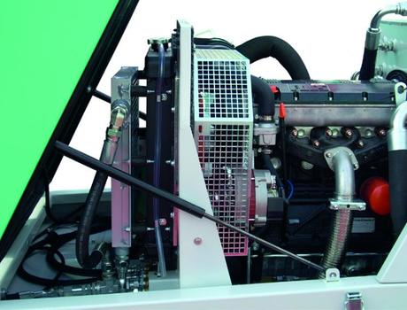 Пневмонагнетатель (бетононасос) Booster 15 - система охлаждения