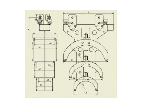 Крупногабаритные кабельные тележки - схема