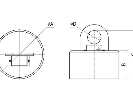 Электромагниты серии ДКМ 010-055 схема