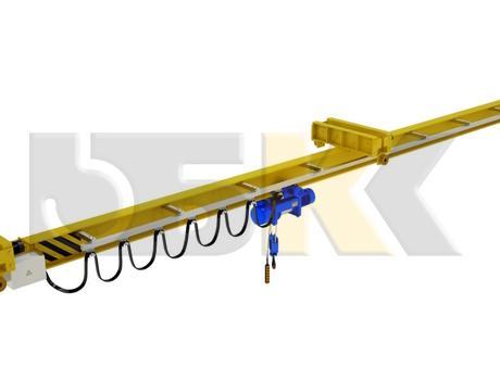 Кран-балка электрическая подвесная двухпролетная г/п 1-10 тонн - изображение