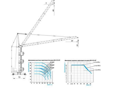 Схема башенного крана КБ-415-07