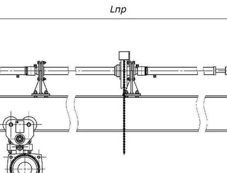 Кран-балка ручная подвесная г/п 8-10 тонн - габаритные размеры