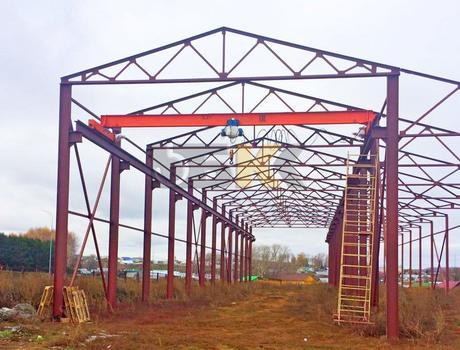 Кран-балка электрическая опорная г/п 3,2 тонны пролет 10,5 метров