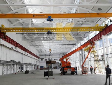 Кран-балка электрическая опорная г/п 1 тонна пролет 16,5 метров