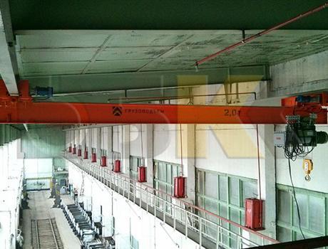 Кран-балка электрическая подвесная г/п 1 т пролет 6 - 9 м