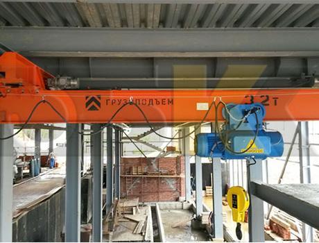 Кран-балка электрическая подвесная г/п 2 тонны пролет 15 метров