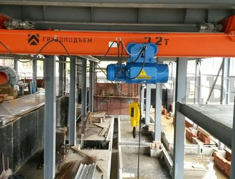Кран-балка электрическая подвесная г/п 3,2 тонны пролет 6 метров