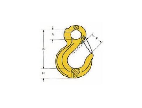 крюки с предохранителем для цепей 8 класса стали - схема