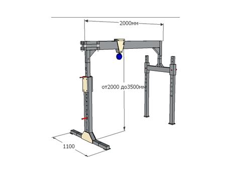 Мобильное подъемно-перегрузочное устройство МППУ-700 - схема