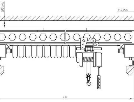 Кран-балка электрическая опорная г/п 10 тонн пролет 4,5; 7,5 метров