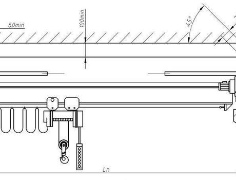 Кран-балка электрическая опорная г/п 3,2 тонны пролет 22,5 метров