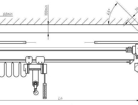 Кран-балка электрическая опорная г/п 5 тонн пролет22,5 метров