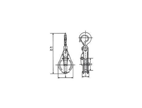 Блок монтажный с крюком S`250x1, г/п 5т